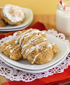 Eggnog cookies with eggnog glaze