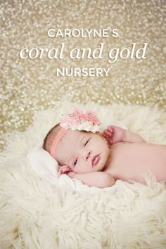 Carolyne's beautiful gold and coral nursery design! | Photo by Natalie Gray Photography