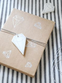 DIY geometric clay tags