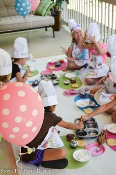 """cookie decorating birthday party 