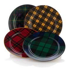 tartan plaid plates