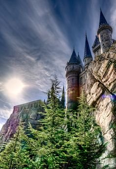 Hogwarts Castle, Universal Studios Orlando, Florida. My dream from when the announced in 2007 that they were going to build it. October 2010 I made it!