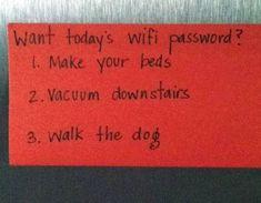 Do you chores