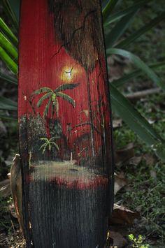 tropic palm, palm fronds, paint palm