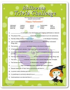 Ambitious image with regard to printable halloween trivia