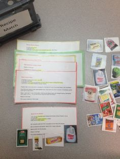 Match Ingredients to Recipe Cards