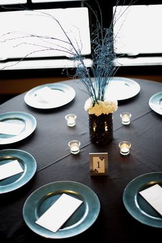Teal and Black Wedding Ideas!