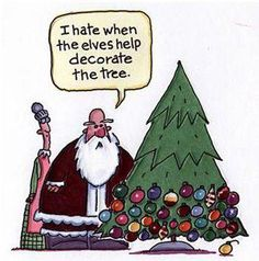 Haha! That's how my tree looked after the boys decorated it!