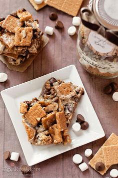 Campfire-Bars. They look sooooo good! And they are easy to make and/or give as a gift in a jar too! I think that with some salted nuts mixed in they would be The Perfect Food!
