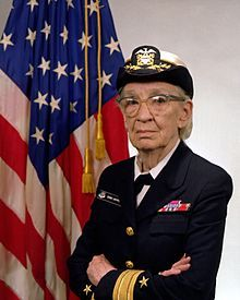 "This incredible woman is Grace Hopper.  Known to some as ""Amazing Grace"" she was one of the leading computer programmers of her day and laid a foundation for coding we still use today. More: http://www.history.navy.mil/photos/pers-us/uspers-h/g-hoppr.htm"