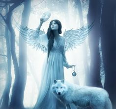 """When we take off our masks, we will become an angels and the wolf is symbol of our freedom"" ...."