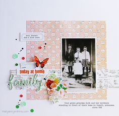 Scrapbook page by Maryann Jenkins :: #scrapbooking #layout