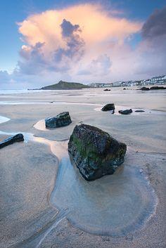 Porthmeor beach, St Ives, Cornwall, UK