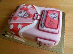 School bag / Hello Kitty cake