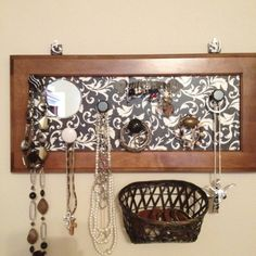 Repurposed cabinet doors & cheap knobs & mirror