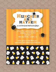 Spooky Halloween Party Invitation--cute contrasting designs