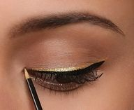 black and gold liquid eyeliner