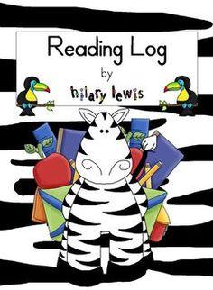 Reading Log - Reading Strategies Sentence Starters for Kid