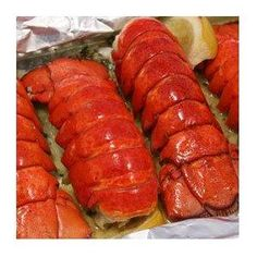 Grilled Lobster Tail Recipes Gourmet Food, Lemon Butter, Lemons, Lobster Tail, Lobsters, Butter Lobster, Seafood Recip, Butter Tail, Yummi Seafood