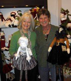 Jacki Headley ( on left),creator of  Woof & Poof, and friend to many. I miss her!