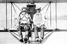 Theodore G. Ellyson and Glenn Curtiss. Hammondsport, Annapolis, S D 1911-1912.