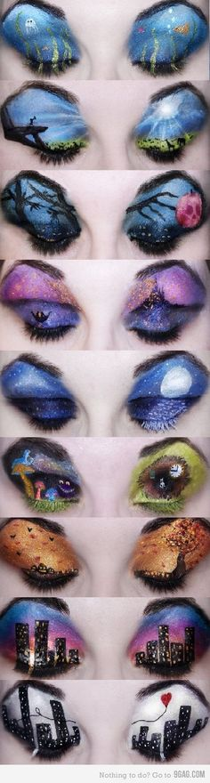 Wow - Crazy eye makeup!