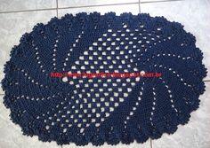 elliptic spiral rug - with free diagram!