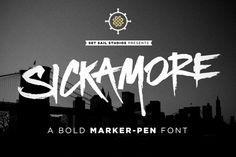 Sickamore Bold Marker Font by Set Sail Studios on Creative Market