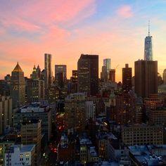 NYC sunset.