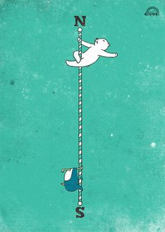 Day 94: North Pole, South Pole by ILoveDoodle, via Flickr