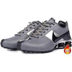 http://www.asneakers4u.com/ Mens Nike Shox Deliver Grey Black Silver