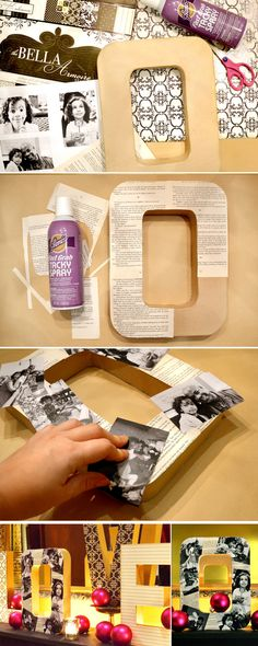 #DIY Photo Letters.