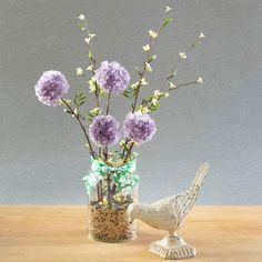 What a fun idea, plus it lasts a long time. Spring Pom-Pom Flower Decoration