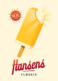 Hansen's Ice Cream by Mads Berg, via Behance.