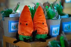 Each guest received a 'My First Garden Kit' as a #partyfavor at this Peter Rabbit Themed party!