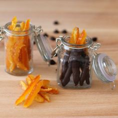 Candied orange peels are a nice homemade Christmas gift. They are delicious plain or dipped in dark chocolate.