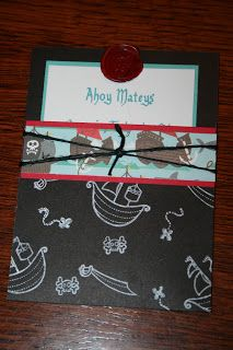 cutebugdesigns: Ahoy Matey! Ye be invited to a pirate party!