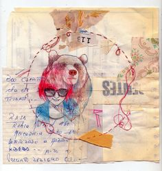 mixed media. apologies for not knowing who the artist is. I'm repinning.