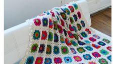 #Crochet : un #plaid de #granny #square en #alpaga