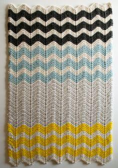 Free knitting - chevron blanket