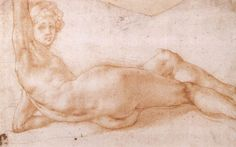 Nude hermaphrodite Pontormo   Find the best #Art installations in New York with www.artexperience...