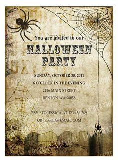 Halloween invitation idea
