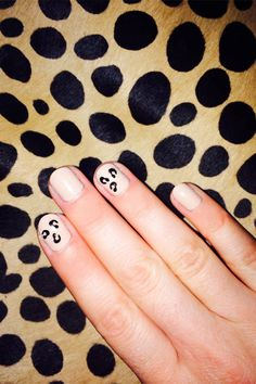No nail art skill required for this leopard manicure.