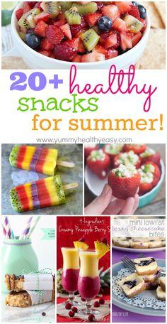 20+ Healthy Snacks for Summer! [ SkinnyFoxDetox.com ] #food #skinny #detox #health