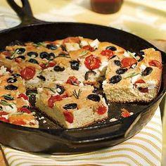 Cornbread Focaccia- Hillbilly CAST IRON Cooking