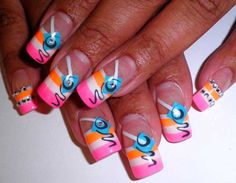 25 Trendy Neon Nail Art Designs