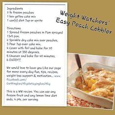 Weight Watchers Easy Peach Cobbler