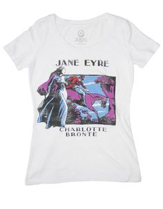 Jane Eyre book cover t-shirt from Out of Print Clothing - For each product sold, one book is donated to a community in need through their partner Books For Africa.