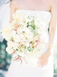 Light Pink Wedding Bouquets