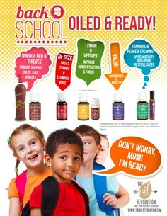 Back to School Must Have Essential Oils.  Keep those germs down this school year.